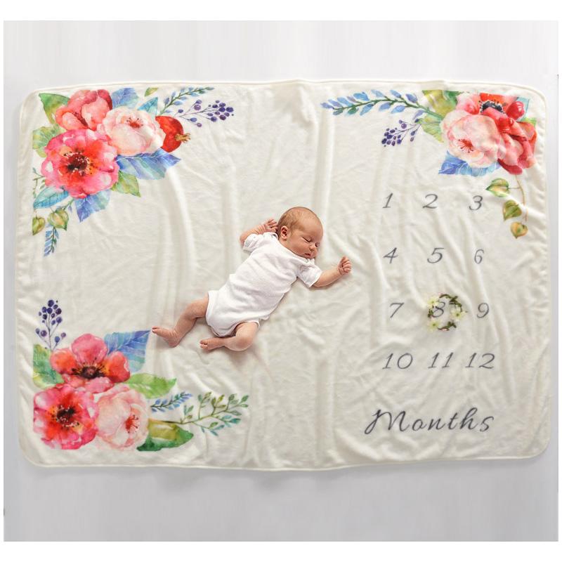 DIY Photography Milestone Blanket Baby Props Printed Newborn Photography Wrap Blankets  Bigger size