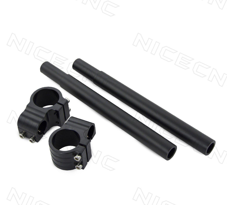 "For 7//8/"" Bars Black Rubber Motorcycle Cafe Racer Custom Wimbledon Grips"