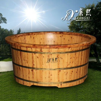 3 person outside wood burning hot tubs
