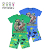 Factory Outlet Wholesale Tyrannosaurus Digital Printed Cotton Summer Boys Pant Shirt