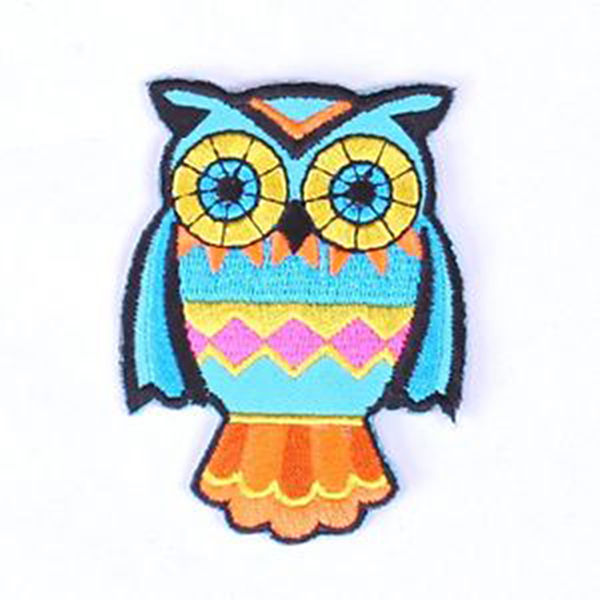 Colourful Owl The Craft Factory Applique  Motif Iron on//Sew On