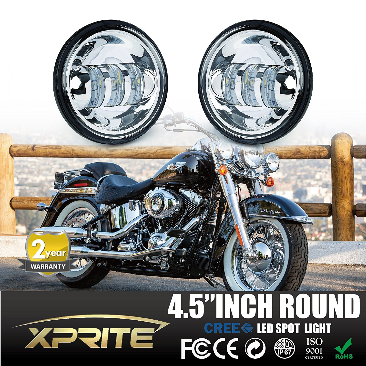 Buy Xprite 2 Pcs 4 Inch 60w Cree Led 4800lm Fog Lights For Jeep Wrangler Jk Bulb Recommended You