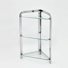 Bathroom Corner Stand 3 Tier Glass Shelf