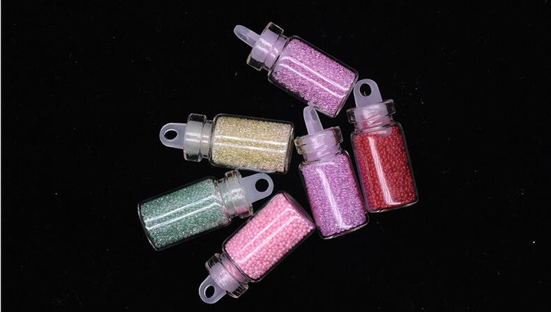 Hot sale 48 bottle flash powder Dust Nail Art Glitter Set nail art Caviar beads for nail art diy