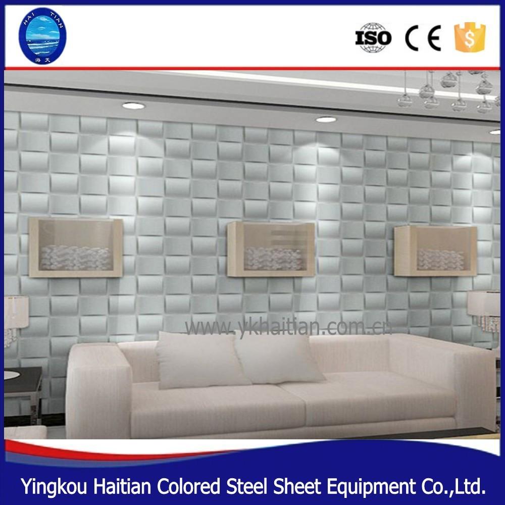 Material de pvc revestimiento de paredes 3d ligeros lowes for Paneles de pvc para paredes