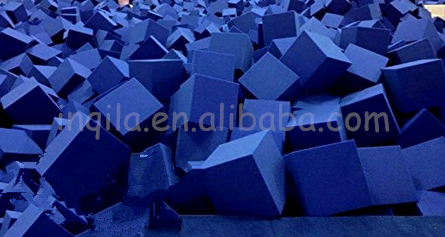 "trampoline park Foam Pits Blocks (BLUE) 5""x5""x5"" (1536) Pit Foam Blocks/Cubes For Skateboard Parks, Gymnastics"