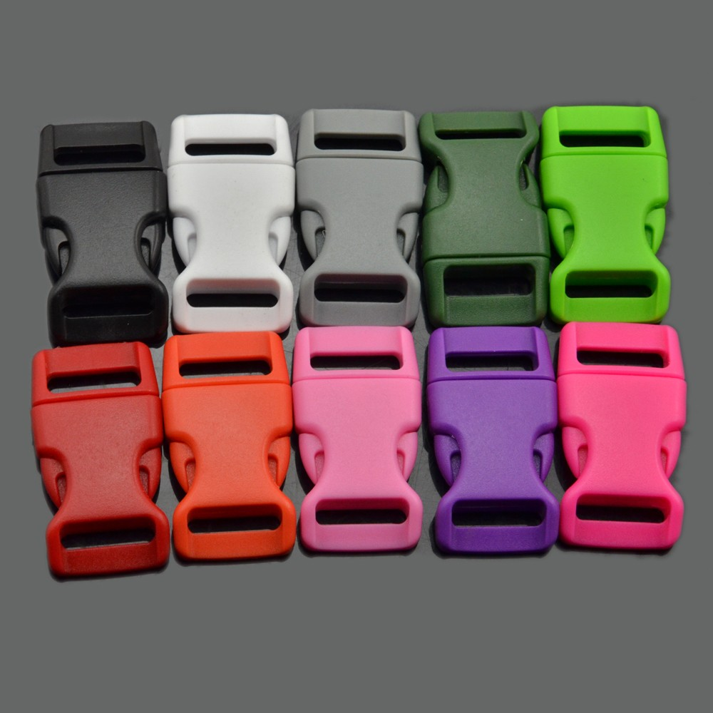 "5/8 "" Plastic Colorful Contoured Side Release Buckles for paracord bracelet"
