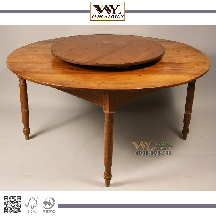Rotating Solid Wood Lazy Susan Table Dining Cafe Portable Product On Alibaba