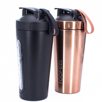 wholesale hot sale stainless steel Alibaba hot personalized protein shaker bottles with silicone handle