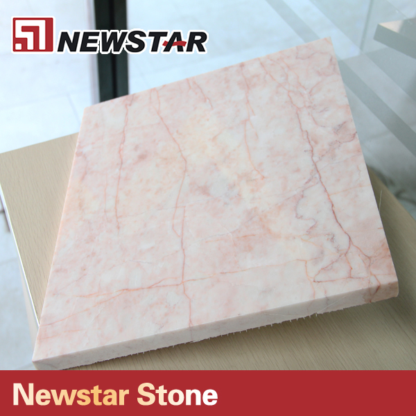 Newstar quanzhou wholesale 34x34 pink color rose milk marble floor tile