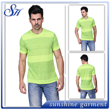 2016 new designs seamless mens fitness gym quick dry t shirts wholesale