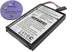 vintrons (TM) Bundle - 1250mAh Replacement Battery For CLARION MAP 770, MD95243, + vintrons Coaster
