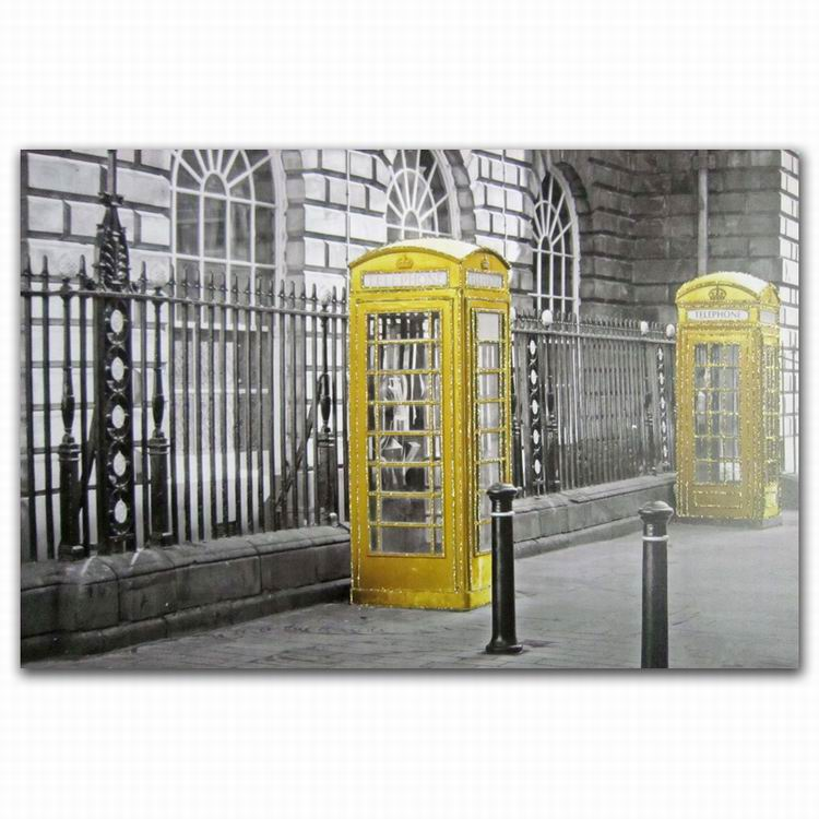 FZDEYI Pop Art telephone box glitter inkjet digital printing canvas