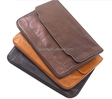 Factory custom-made pu leather waterproof document pouch, document folder, document bag
