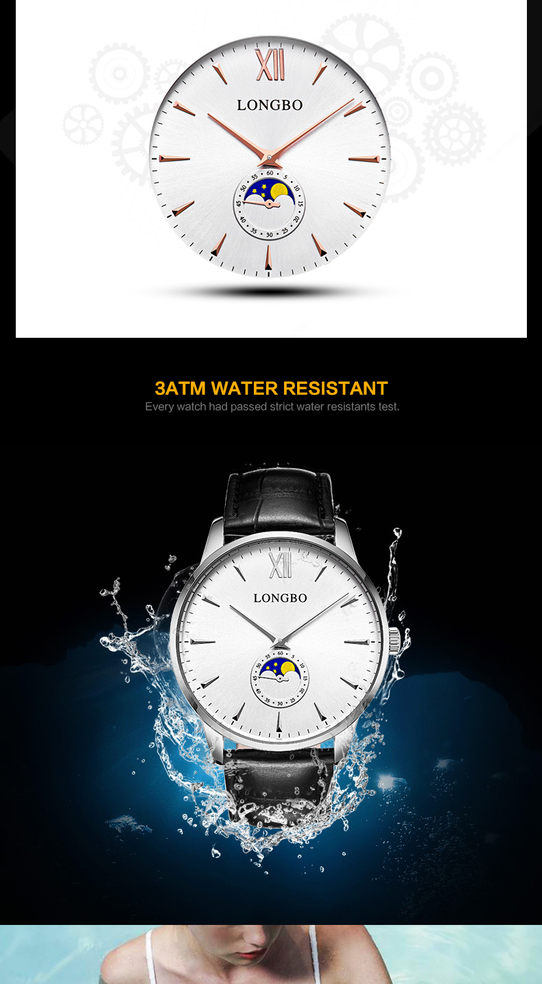 Luxury men women ultra slim couple watches waterpoof leather quartz watch