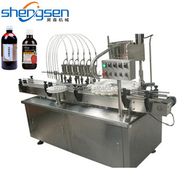 Medicine Bottle Filling Machine / Liquid Bottling And Capping Machine