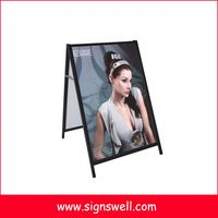 Outdoor Foldable double sided A frame plastic advertising board, advertising sign