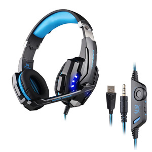 KOTION EACH G9000 USB Led Gaming Headphones with Microphone 7.1 Surround Sound Auriculares Game Headset LED Light for PC Gamer
