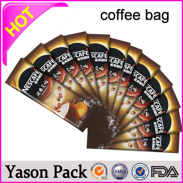 Yason tea and coffee aluminum foil bags coffee packing plastic bags coffee package bag production