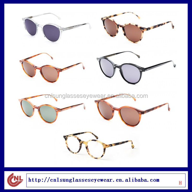 Multiple Colors For your choice Simple Design Round Frame and Thin Temple Polarized Sunglasses for Women