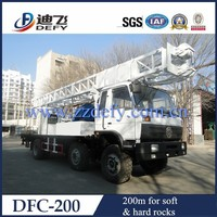truck mounted DFC-200 borehole drilling machine,can drill depth 200m, drilling diameter