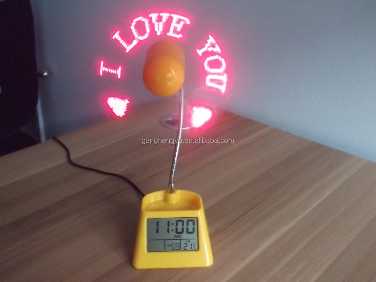 product detail clock fan thermometer digital usb led