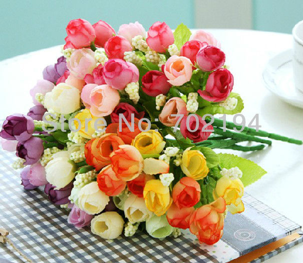 Simulation Pearl Tea Rose Flower Victoria Rose Flower Decoration Artificial Flower Silk Flower 15pcs/lot in free shipping