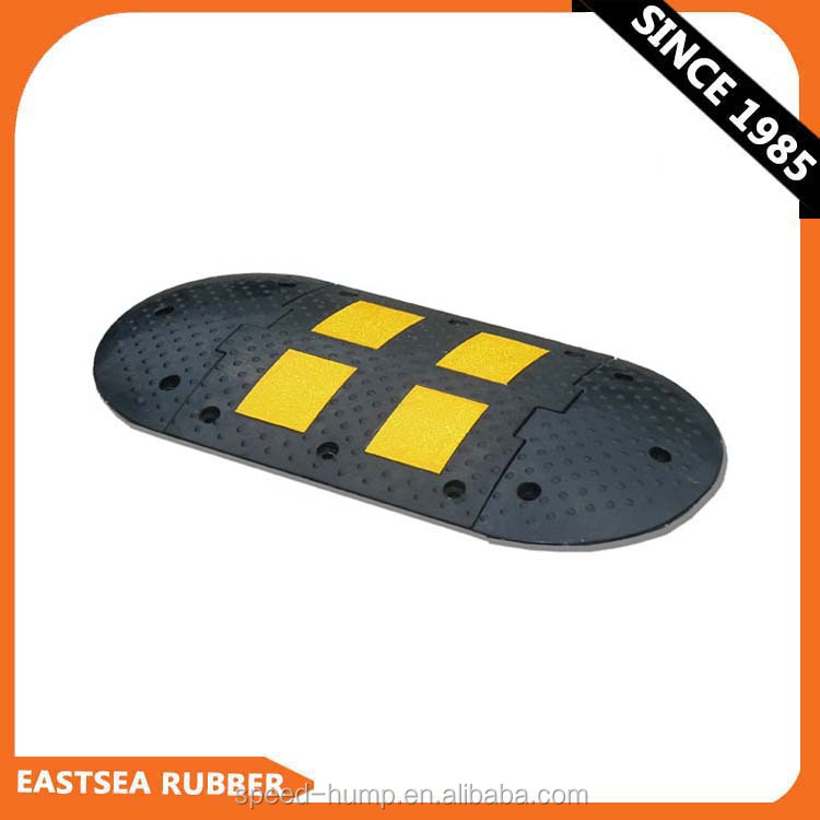 High Quality! 500MM Width Rubber Reflective Road Speed Hump