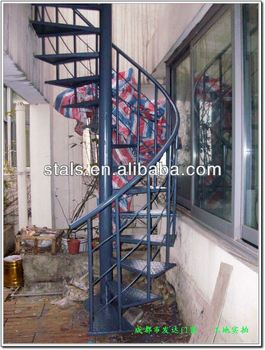 Iron Staircase Residential Stairs Round/straight/single Stringer Stairs/spiral  Staircase