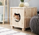 wooden cat bed wooden pet bed Wooden Cat House Pet Furniture Kitty's Home Condo
