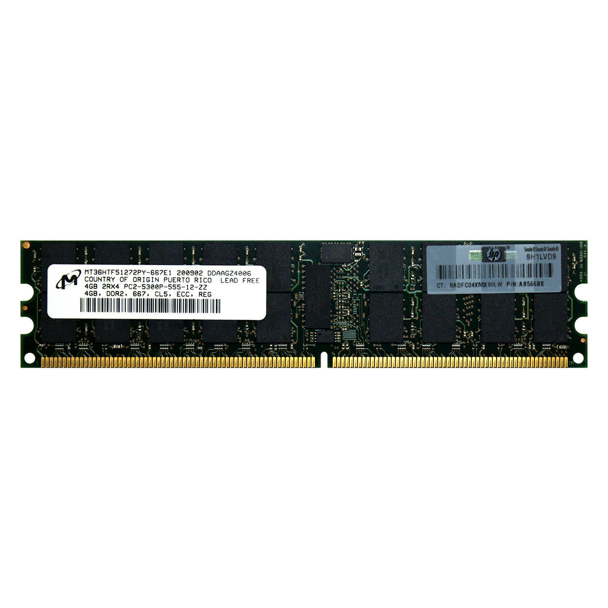 HP AB566BX 4GB DDR2 PC2-5300R 667MHz ECC REGISTERED SERVER SPEICHER RAM