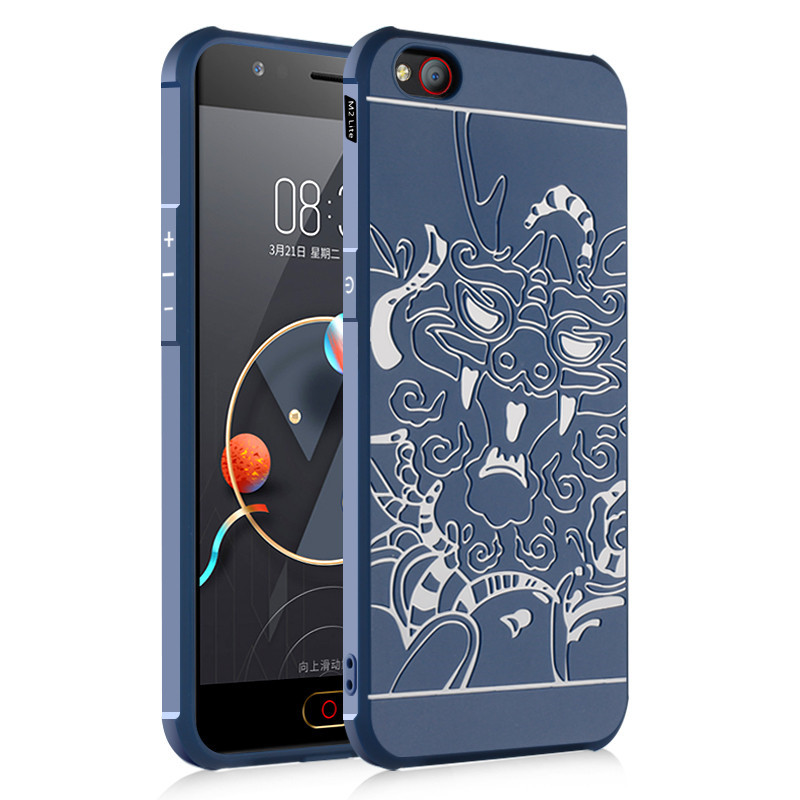 High Quality Ultra Thin Slim Colorful Silicone Mobile Phone Back Cover Case for ZTE Nubia M2 lite