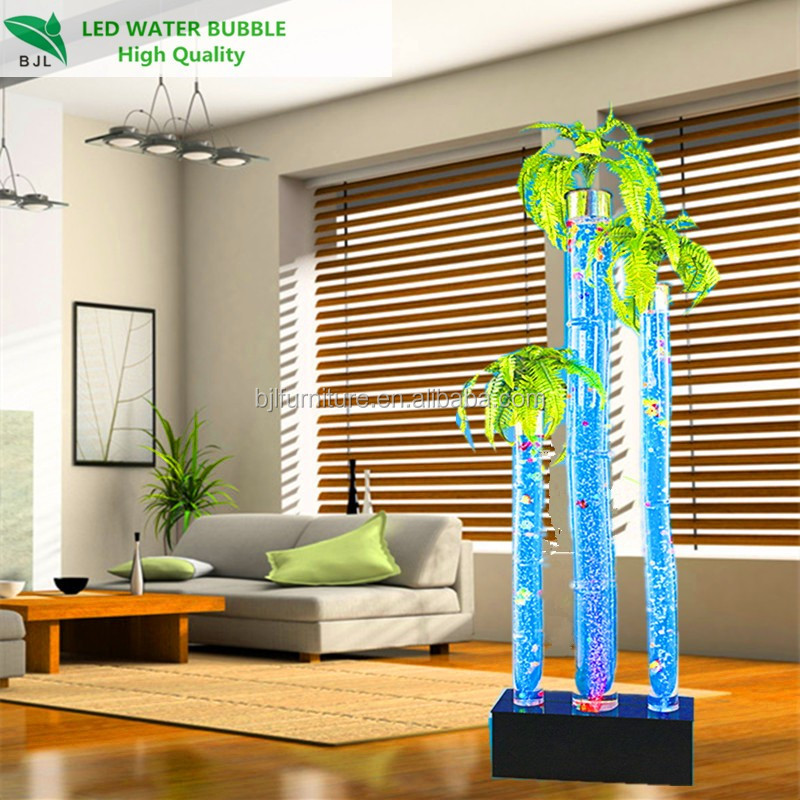 LED Acrylic Bubble Changing Colors LED Tubes Coconut Tree Shape Crirstmas Decorations