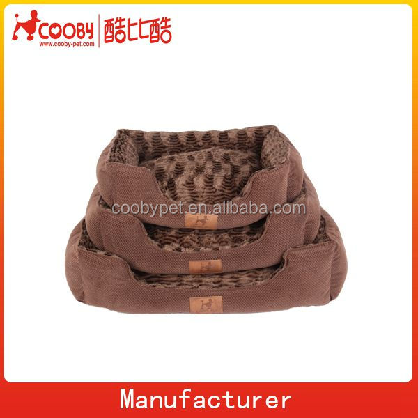 New arrival high quality dog product, sofa fabric and emboss pv fleece fabric dog product, chocolate brown color dog product