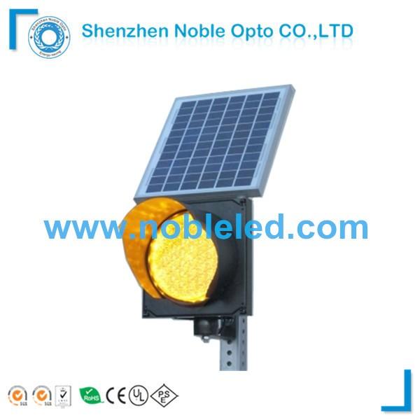 8 inch school zone 12v amber solar traffic flashing light for