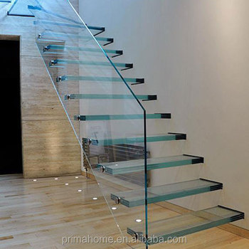 Luxury Interior Galvanized Floating Staircase