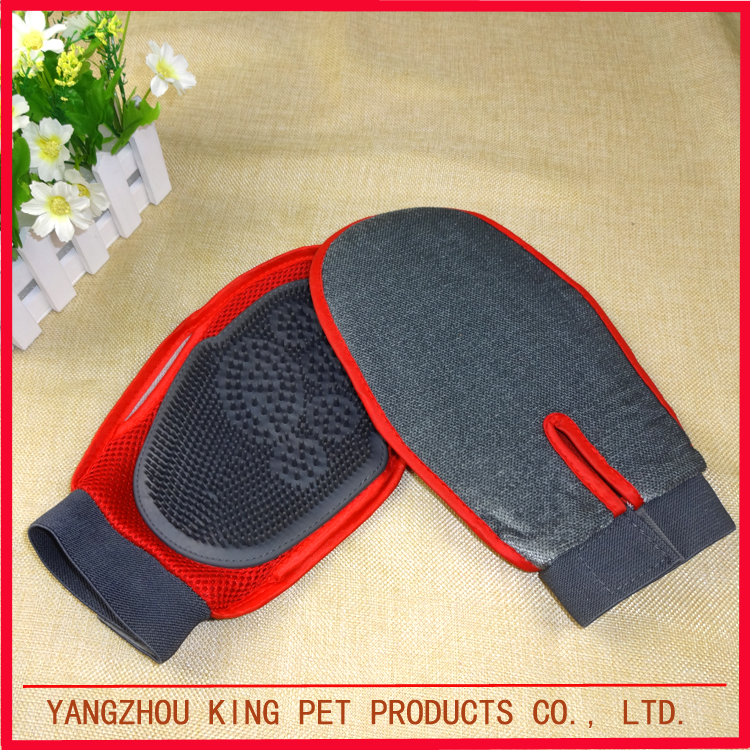 China Supplier Customized Good rubber pet grooming glove for small animals