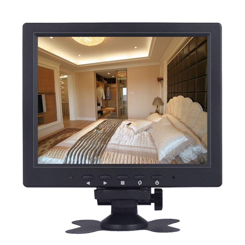 "freeshipping 8.4 inch LED monitor, desktop computer screen display with VGA+BNC+AV PORT 8.4"" monitor av bnc interface screen"