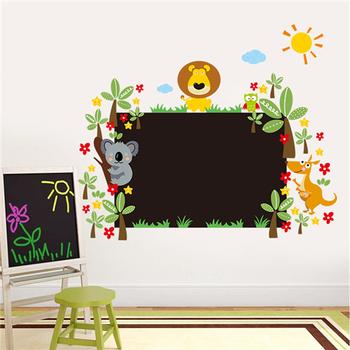 ZOOYOO ZY042L 3d kids wall sticker kids room wall decal chalkboard ...