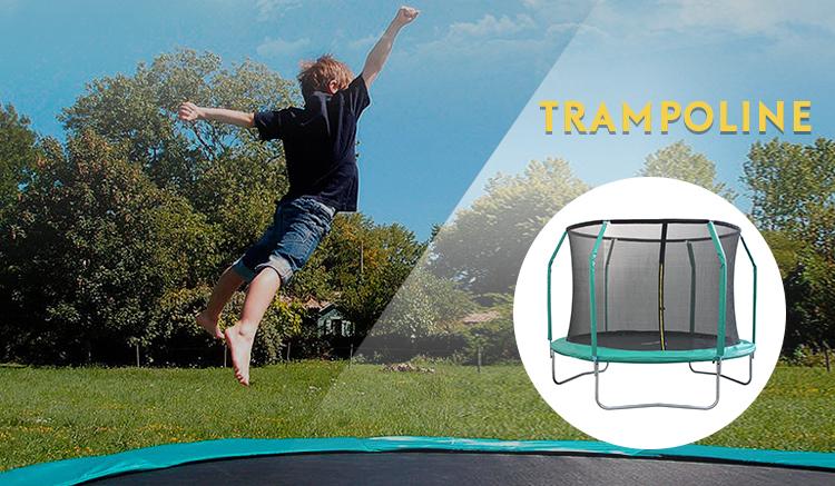 Venda quente Full Size Quadro Curvo Jogo Ao Ar Livre Exterior Trampolim Net