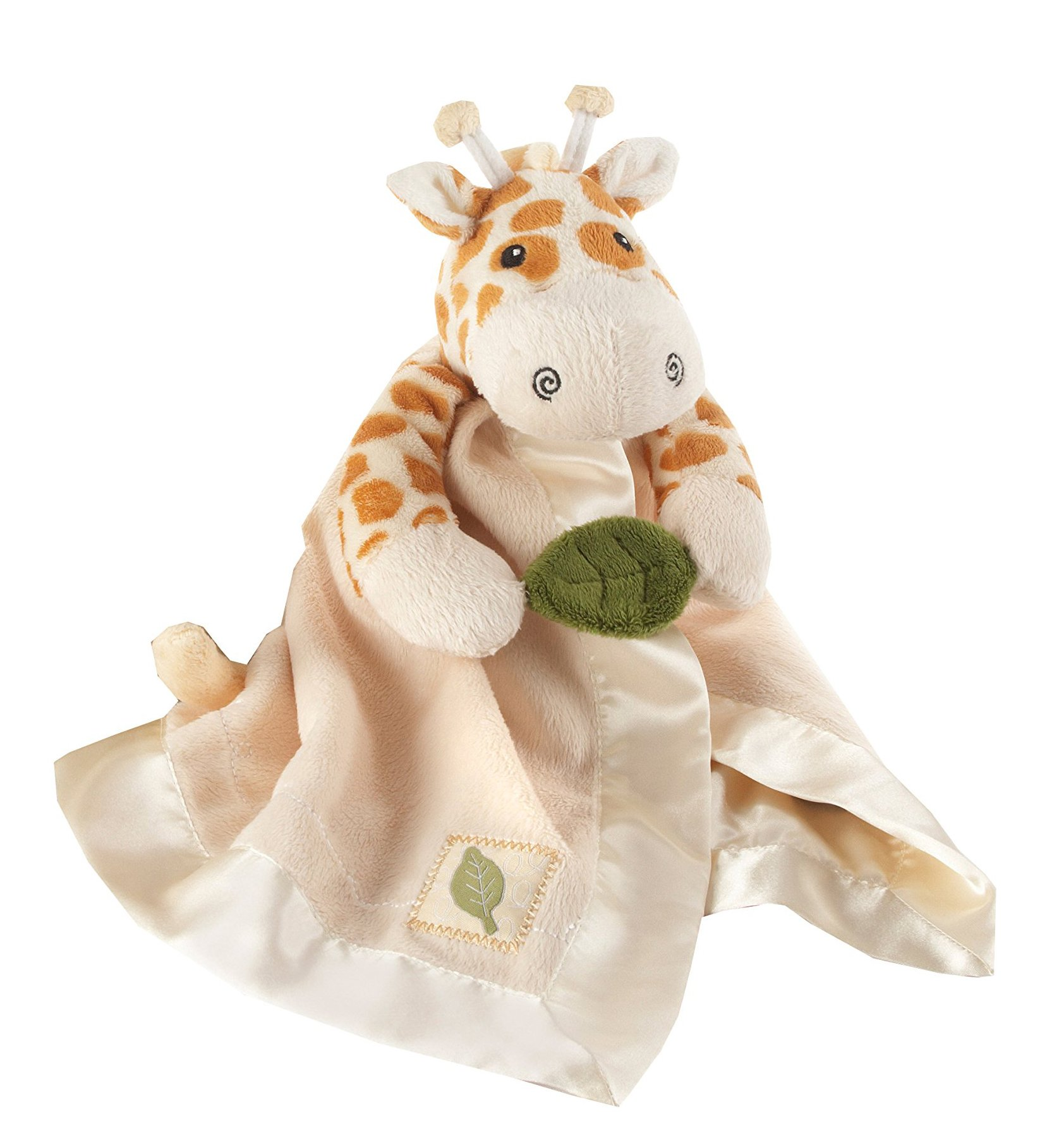 Baby Aspen, Jakka the Giraffe Little Expeditions Plush Rattle Lovie with Crinkle Leaf, Brown, 0-24 Months