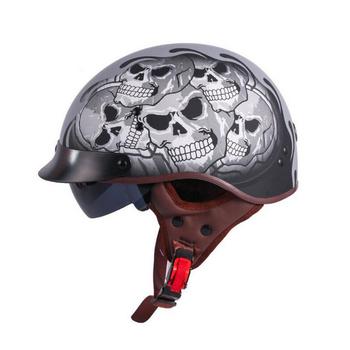 Custom Motorcycle Skull Cap Half Face Helmet Buy Skull Cap Half