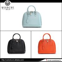 Wishche W0044 No MOQ Fashion Real Cow Leather Bag Name Brand Handbags Designer Handbag Style