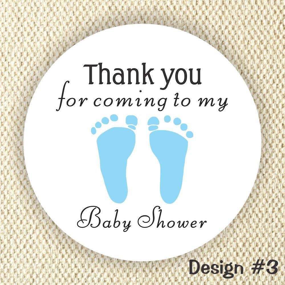 It's a Boy stickers - Baby Shower Stickers - Footprint Baby Boy stickers