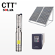 pompa solar to deep well solar submersible pump 10m3/h flow solar energy kit