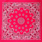 Classical Paisley Designs Print Welcome Square Bandana in Cotton or Polyester Square Bandana