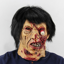 Walking dead zombie <span class=keywords><strong>latex</strong></span> halloween horror <span class=keywords><strong>masker</strong></span> met littekens