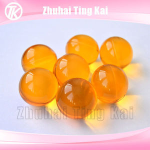 Round shaped shower gel bath beads
