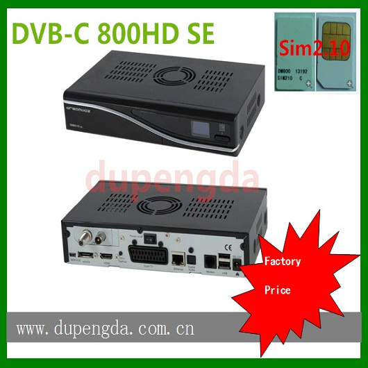 digital TV frequency sim2.10 card DM800HD SE cable receiver