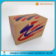 Fully Stocked 3 Layer Corrugated Cardboard Empty Custom With Logo Printed Carton Packaging Boxes